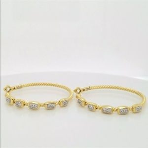 DAVID YURMAN 18K GOLD DIAMOND CONFETTI EARRINGS